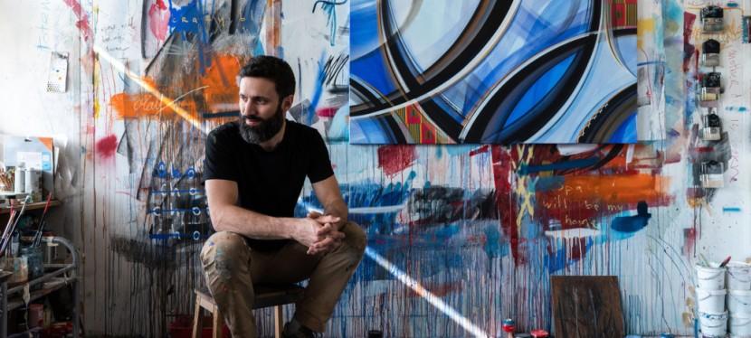 Romain Froquet, artiste urbain de la ligne et dumouvement